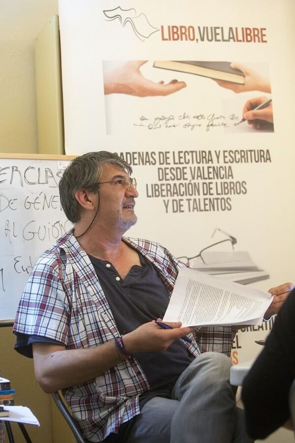 Jimmy Entraigües durante un momento de la clase. (Foto-Manuel Molines).