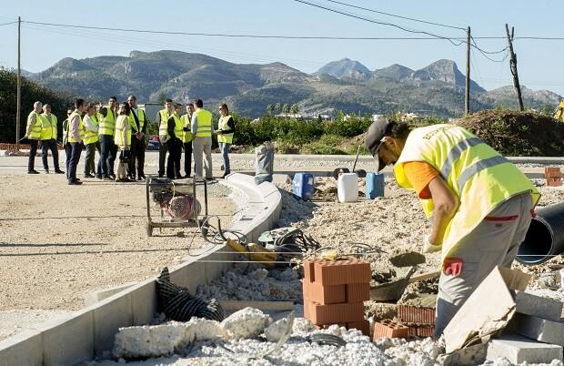 La Diputación de Valencia invertirá este año más de medio millón de euros en las carreteras de La Safor.