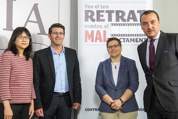 La Diputación une al Valencia CF y el Levante UD contra la violencia de género. (Foto-Abulaila).