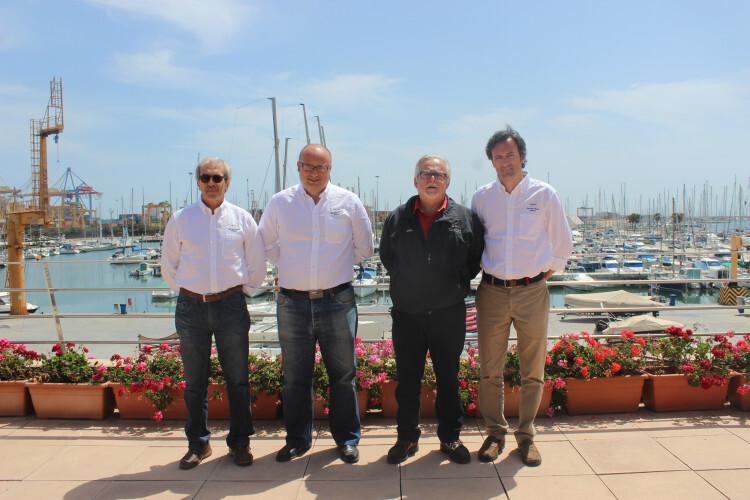 Luis Sáez, Julian Vico, Juan Carlos Morcillo y Pedro Quiroga del RCNV