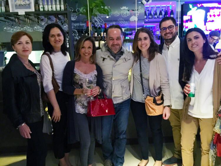 Mª Angeles Miguel, Mª Angeles Varvaró, Amelia Delhom, Iñaki Verschaege, Carolina Murcia, Marcelo Soto y Arantxa Estellés