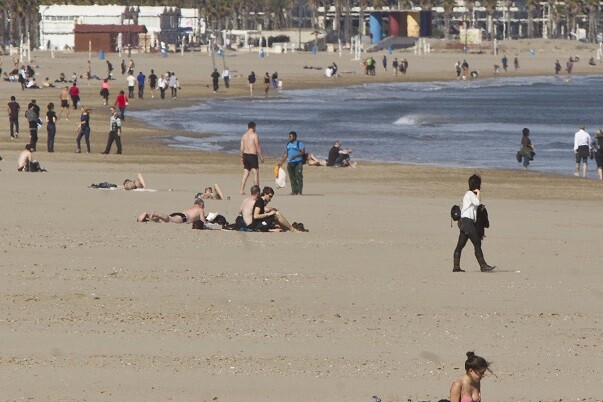 Comunidad  Valenciana. Valencia 14 de Febrero  de 2014. Playa de la Malvarrosa.  Fotografia de: Damian Torres