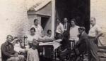 Postal fotográfica Paella en Massalfassar agosto de 1926