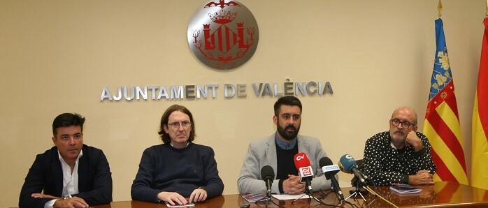 Presentación en rueda de prensa de los conciertos que se celebrarán a los Jardines de Viveros con motivo de la Gran Feria de Valencia.
