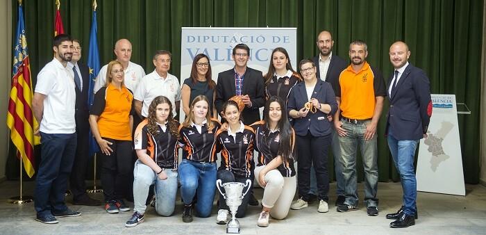 Recepción en la Diputación de Selección Valenciana Femenina Sub 18. (Foto-Abulaila).