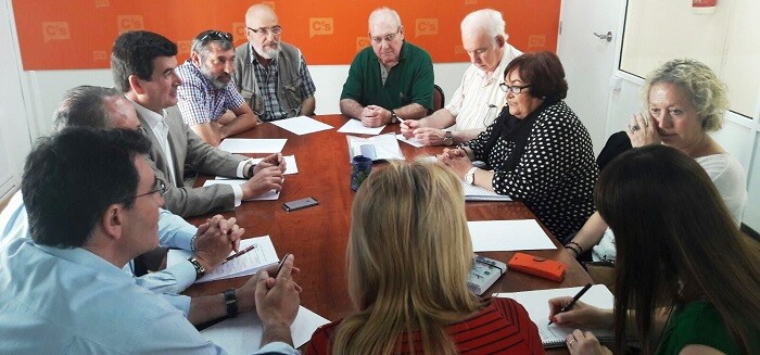 Reunión de Ciudadanos con María José Broseta.