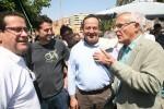 Ribó celebra con los vecinos de Benimaclet el cuarto aniversario de los huertos urbanos.
