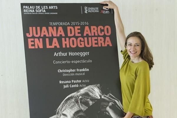 Rosana Pastor protagoniza el oratorio 'Juana de Arco en la hoguera', de Honegger, en Les Arts.