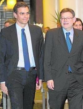 Sánchez y Puig en un encuentro en Valencia.