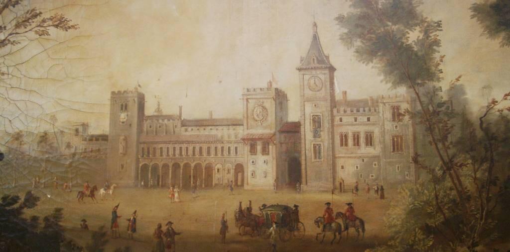 Pintura de autor anónimo que muestra el aspecto que tenía el Palacio del Real.