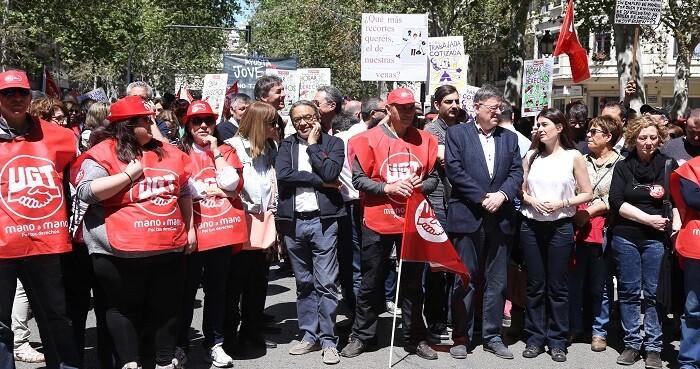 Ximo Puig también participó de la jornada reivindicativa.
