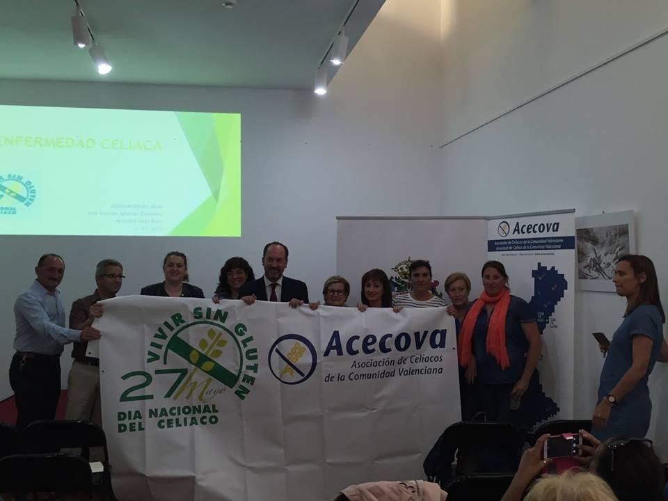 celebración de la Jornada de Visibilidad de la enfermedad celíaca organizada por el Ayuntamiento de Orihuela, ACECOVA