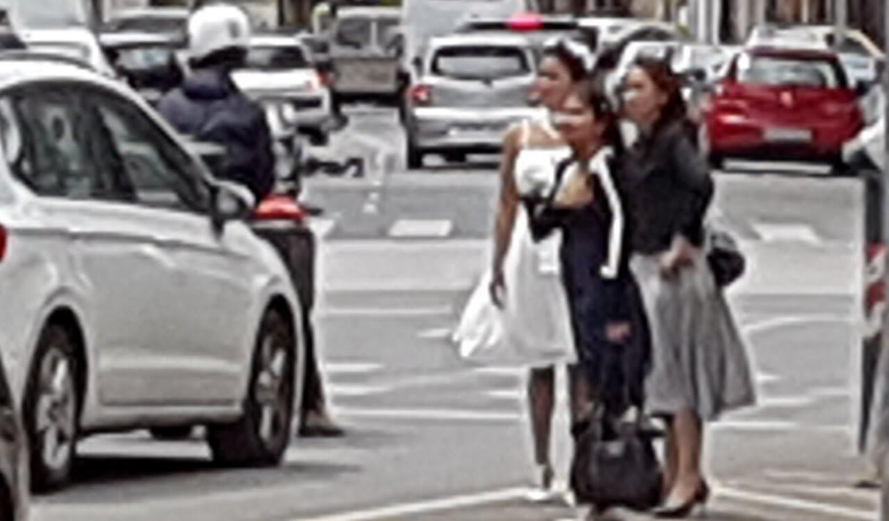 La novia que se fue a su boda en Valencia ¿en taxi?