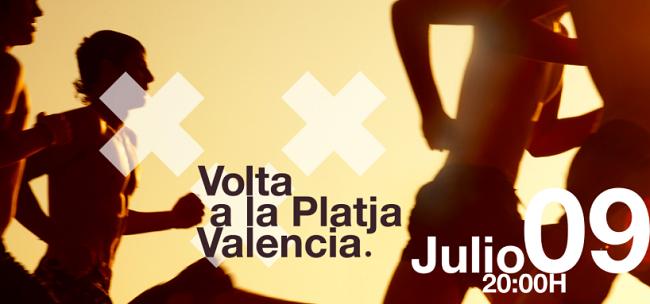 Cartel de la Volta a la Platja València.