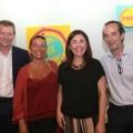 Christian Jardel, consejero delegado de Bierwinkel, María García de la Riva, Anabel Navas y Paco Valls