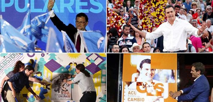 Con la simbólica pegada de carteles, se hizo oficial el inicio de contienda electoral.