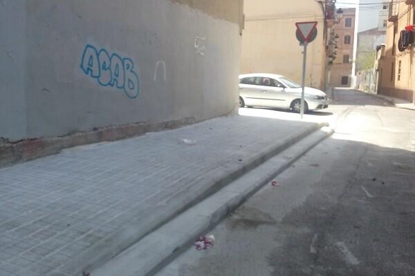 Concluidas las obras de renovación de aceras y mejora de pasos de peatones en Morvedre, la Torre y el Forn d'Alcedo.