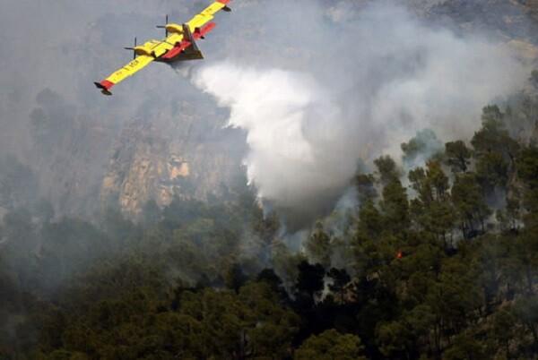 Controlado el incendio de Carcaixent tras arrasar 2.200 hectáreas.