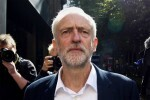 """Newly elected leader of Britain's opposition Labour party Jeremy Corbyn leaves the Party's headquarters in London on September 14, 2015. Radical leftist Jeremy Corbyn attacked government plans to curb strike action on his first day in parliament, after becoming leader of Britain's opposition Labour despite dissent in the party ranks. The 66-year-old, who swept to victory on Saturday, set the scene for a heated debate over the Trade Union Bill by saying that even some Conservatives saw parts of it as """"something from a fascist dictatorship"""". AFP PHOTO / JUSTIN TALLIS        (Photo credit should read JUSTIN TALLIS/AFP/Getty Images)"""