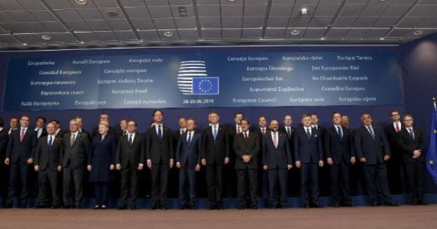 Cumbre de líderes europeos.