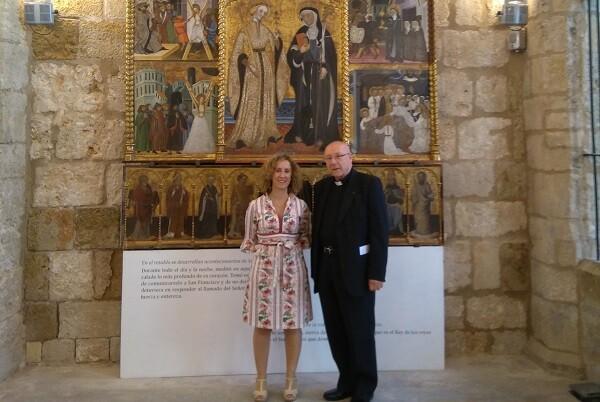 El Institut Valencià de Cultura presentó la restauración del Retablo de Santa Clara y Santa Eulalia de la Catedral de Segorbe.