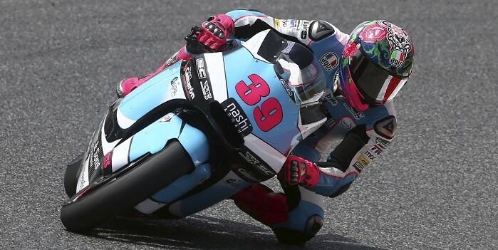 GRA284. MONTMELÓ (BARCELONA), 03/06/2016.- El piloto español de Moto2 Luis Salom, del equipo SAG Team, durante la segunda sesión de entrenamientos libres del Gran Premio de Catalunya de motociclismo que se celebra este fin de semana en el Circuito de Catalunya-Barcelona. EFE/Toni Albir
