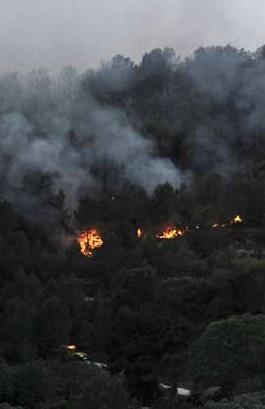 El fuego ha arrasado ya más de 2.000 hectáreas.