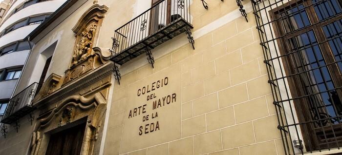 Fachada Colegio del Arte Mayor de la Seda. Fotografía Roberto Tortosa