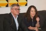 Glòria Tello presentó al nuevo director del Palau de la Música, Vicent Ros.