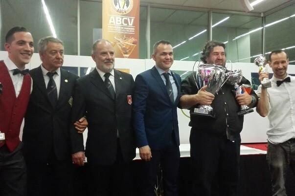 Joaquín Escolano, Miguel ángel Julia y Ernesto Caparros ganan el Concurso de Coctelería de la CV y Región de Murcia.