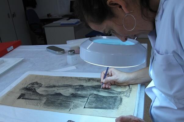 La Diputación homenajea a Pinazo restaurando parte de sus trabajos como pensionado en Roma.