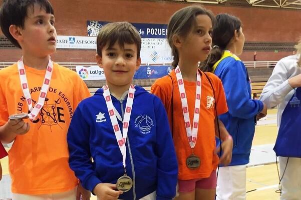 Lucas Martínez de Esgrima Marítim Subcampeón de España Pre Benjamín.