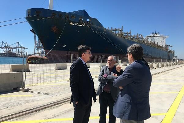 Morera visita el Puerto de Valencia para conocer sus demandas estratégicas.