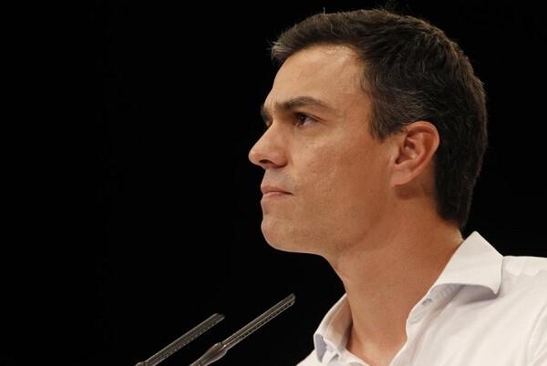 """Pedro Sánchez declara que, """"ni habrá gran coalición con el PP, ni Pablo Iglesias será presidente""""."""