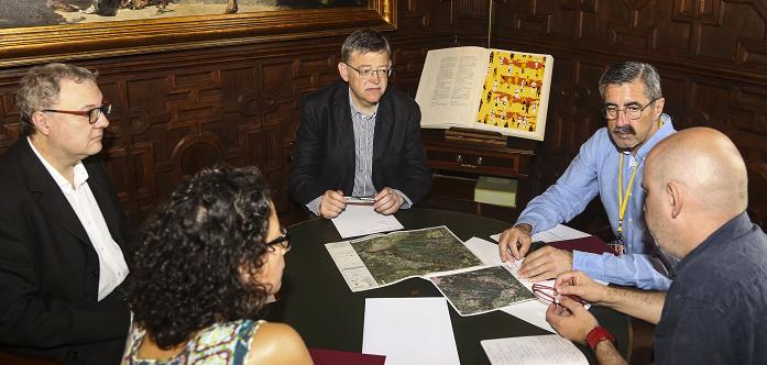 Puig se reunió con el director general de Emergencias, José María Ángel.