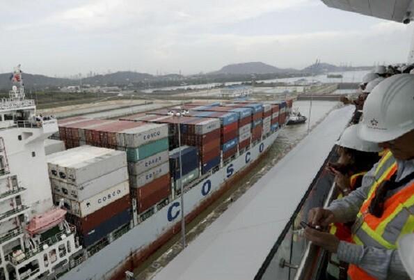 Quedó inaugurada una nueva esclusa en el Canal de Panamá.