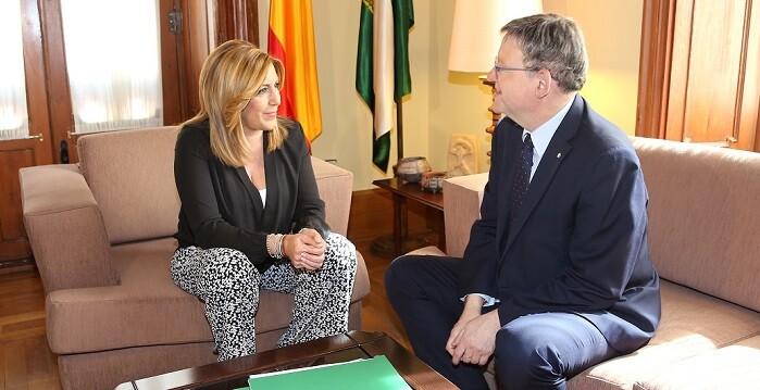Reunión entre Susana Dáiz y Ximo Puig.