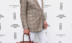 James Sherwood attends the Jermyn Street St James's London Collections Men Catwalk Show on June 11, 2016 in London, England.
