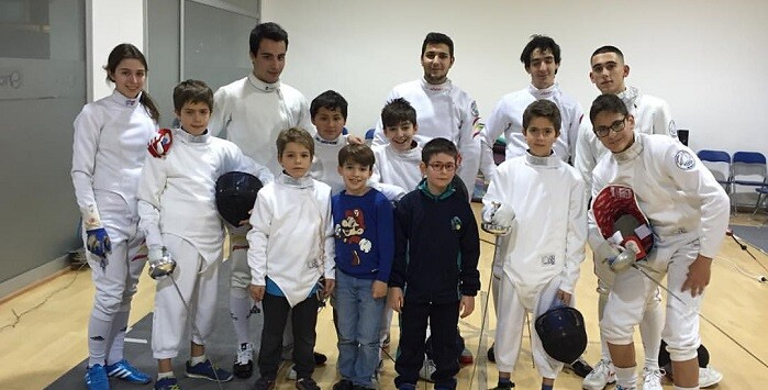 Seis alumnos de la escuela del Esgrima Marítim participaran en el Criterium Nacional de Esgrima para menores.
