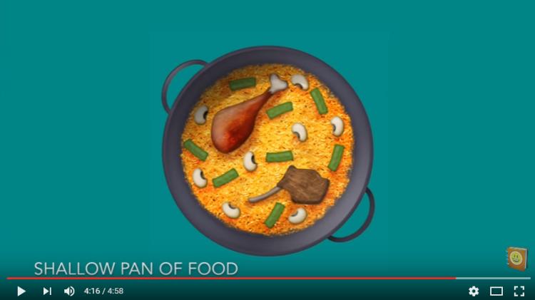 Shallow Pan Of Food (paella) y  los 72 nuevos emojis que tendrá WhatsApp