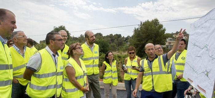 Visita a las obras carretera dePicassent a Monserrat (Foto-Abulaila).
