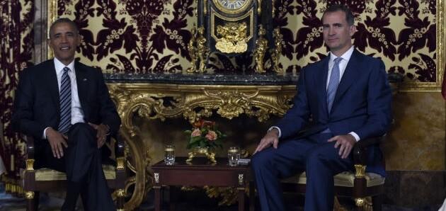 Barack Obama y el rey Felipe VI.