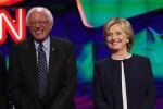 Mandatory Credit: Photo by Matt Baron/BEI/Shutterstock (5239397ao) Bernie Sanders and Hillary Clinton CNN Democratic Presidential Debate, Las Vegas, America - 13 Oct 2015