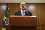 Brazil's Justice Minister Alexandre de Moraes attends a press conference on arrests made in at least two states before the start of the Rio 2016 Olympic Games, in Brasilia July 21, 2016. REUTERS/Adriano Machado