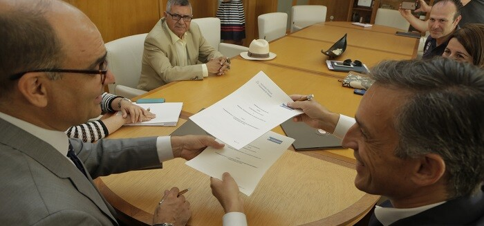 El acuerdo lo han rubricado este mismo lunes el rector, Manuel Palomar y el director general de Hidraqua, Francisco Bartual.
