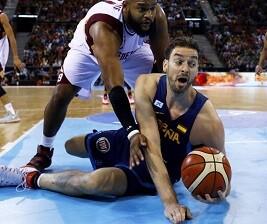 El equipo español ha salido muy enchufado para el partido.