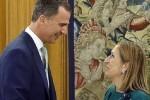 El rey Felipe VI recibió a Ana Pastor.