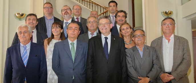 Encuentro con el comité ejecutivo de la Confederación Empresarial Valenciana (CEV).