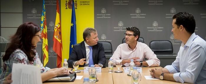 """Jorge Rodríguez, presidente de la Diputación, califica la reunión de """"muy satisfactoria"""".  (Foto-Abulaila)."""