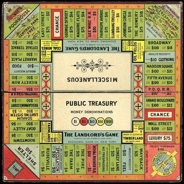 Tablero del juego The Landlord's Game, creado por Elizabeth Magie. / Wikipedia